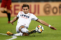 Calcio, Serie A: Roma, stadio Olimpico, 25 ottobre 2017.<br /> Crouton's Stefan Simic in action with during the Italian Serie A football match between AS Roma and Crotone at Rome's Olympic stadium, October 25, 2017.<br /> UPDATE IMAGES PRESS/Isabella Bonotto