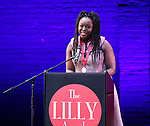 Jocelyn Bioh on stage during the 9th Annual LILLY Awards at the Minetta Lane Theatre on May 21,2018 in New York City.