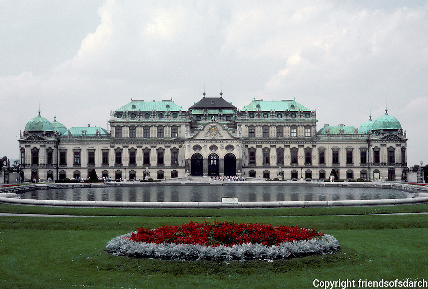 Vienna: Belvedere Palace (upper) 1721/22 by Johann Lukas Von Hildebrandt for Prince Eugene of Savoy. Photo '87.