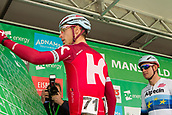 6th September 2017, Mansfield, England; OVO Energy Tour of Britain Cycling; Stage 4, Mansfield to Newark-On-Trent;  Team Katusha-Alpecin ridersTony Martinand completes registration sign-in at Mansfield