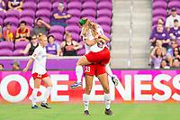 Orlando, FL - Saturday October 05, 2019: Ashley Hatch, Crystal Thomas , Orlando Pride vs Washington Spirit Stars at Exploria Stadium.