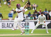 3rd December 2017, Wellington, New Zealand;  Kraigg Brathwaite batting.<br /> Day 3. New Zealand Black Caps v West Indies. 1st test match of the ANZ International Cricket Season 2017/18 season. Basin Reserve, Wellington,
