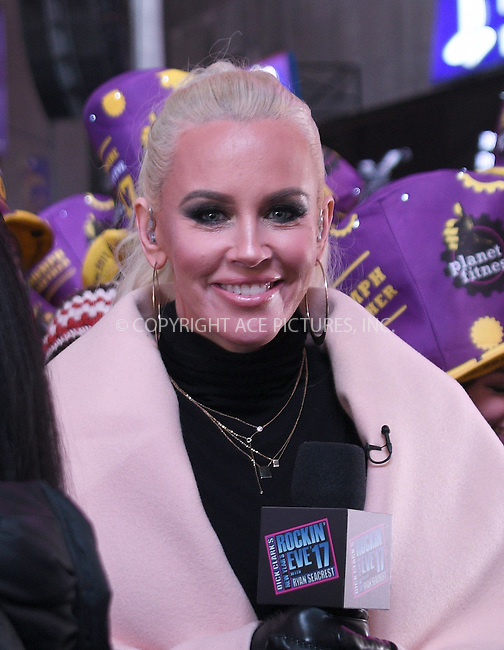 www.acepixs.com<br /> <br /> December 31 2016, New York City<br /> <br /> TV personality Jenny McCarthy made an appearance at the New Years Eve celebrations in Times Square on December 31 2016 in New York City<br /> <br /> By Line: Curtis Means/ACE Pictures<br /> <br /> <br /> ACE Pictures Inc<br /> Tel: 6467670430<br /> Email: info@acepixs.com<br /> www.acepixs.com
