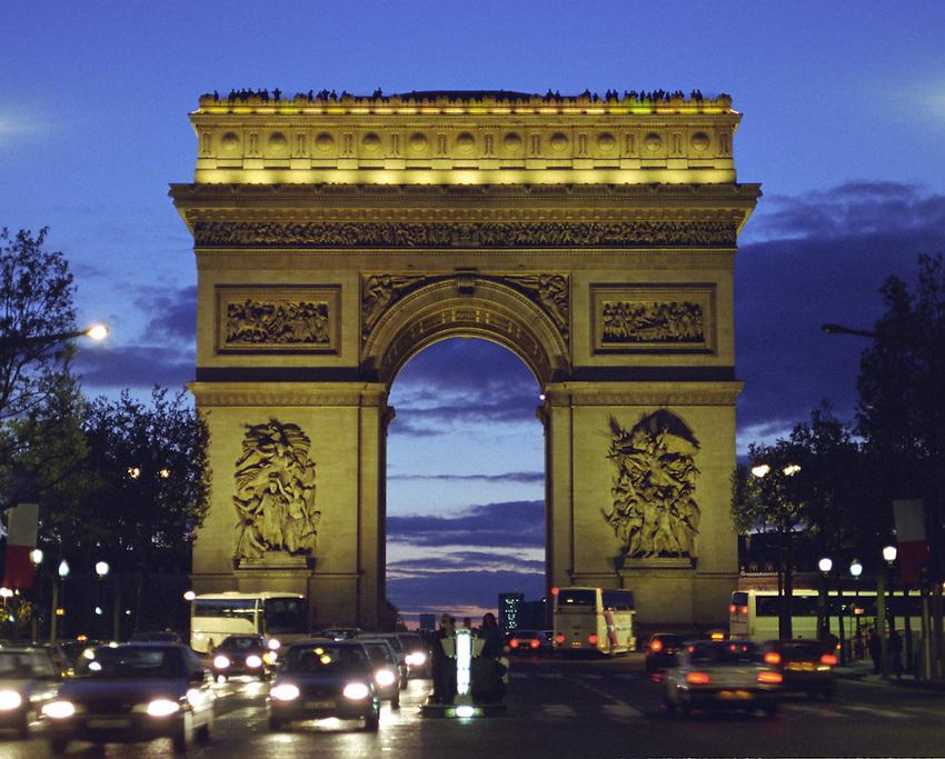 Arc de triomphe Paris, nuit Arch of Triumph, Paris, Night