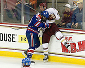 Riley Wetmore (UML - 16), Bill Arnold (BC - 24) - The Boston College Eagles defeated the visiting University of Massachusetts Lowell River Hawks 6-3 on Sunday, October 28, 2012, at Kelley Rink in Conte Forum in Chestnut Hill, Massachusetts.