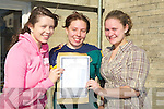 TEARS; Tears of joy from Louise O'Connor (Curran),Josie kerin (Castleisland) and Deirdre Cremins (Knocknagoshel) as they were delighted with their result of their leaving cert at St Josephs, Convent, Castleisland on Wednesday...