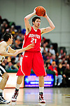 17 January 2010: Boston University Terriers' forward Jake O'Brien, a Sophomore from Weymouth, MA, in action against the University of Vermont Catamounts at Patrick Gymnasium in Burlington, Vermont. The Catamounts, holding the lead for the entire game, defeated the Terriers 78-58. Mandatory Credit: Ed Wolfstein Photo