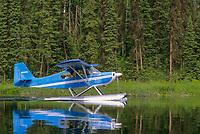 Supercub bush plane on floats, Talkeetna, Alaska