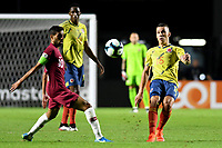 SAO PAULO – BRASIL, 19-06-2019:Mateus Uribe de Colombia en acción durante partido de la Copa América Brasil 2019, grupo B, entre Colombia y Catar jugado en el Estadio Morumbí de Sao Paulo, Brasil. / Mateus Uribe of Colombia in action during the Copa America Brazil 2019 group B match between Colombia and Qatar played at Morumbi stadium in Sao Paulo, Brazil. Photos: VizzorImage / Julian Medina / Contribuidor
