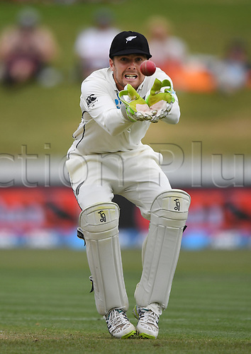 10th December 2017, Seddon Park, Hamilton, New Zealand; International Test Cricket, 2nd Test, Day 2, New Zealand versus West Indies;  Tom Blundell