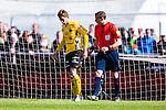 Uppsala 2014-05-01 Fotboll Svenska Cupen IK Sirius - IF Elfsborg :  <br /> Elfsborgs Marcus Rohd&eacute;n har ont efter en situation framf&ouml;r Sirius m&aring;l i den f&ouml;rsta halvleken<br /> (Foto: Kenta J&ouml;nsson) Nyckelord:  Svenska Cupen Cup Semifinal Semi Sirius IKS Elfsborg IFE skada skadan ont sm&auml;rta injury pain