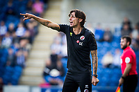 Gabriele Ciofi, Manager of Crawley Town points the way from the technical area during Colchester United vs Crawley Town, Sky Bet EFL League 2 Football at the JobServe Community Stadium on 13th October 2018