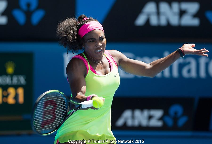 Serena Williams (USA)<br /> <br /> Tennis - Australian Open 2015 - Grand Slam -  Melbourne Park - Melbourne - Victoria - Australia  - 26 January 2015. <br /> &copy; AMN IMAGES