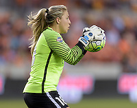 Houston, TX - Friday April 29, 2016: Sky Blue FC goalkeeper Caroline Stanley during the game with the Houston Dash at BBVA Compass Stadium. The Houston Dash tied Sky Blue FC 0-0.