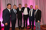 The Scotland team Max Evans, Rory Lawson, Thom Evans, Alan Hansen, Kenny Dalglish and Gordon Strachan at the gala dinner.<br /> The Celebrity Cup 2015<br /> Celtic Manor Resort<br /> <br /> 04.07.15<br /> &copy;Steve Pope - SPORTINGWALES