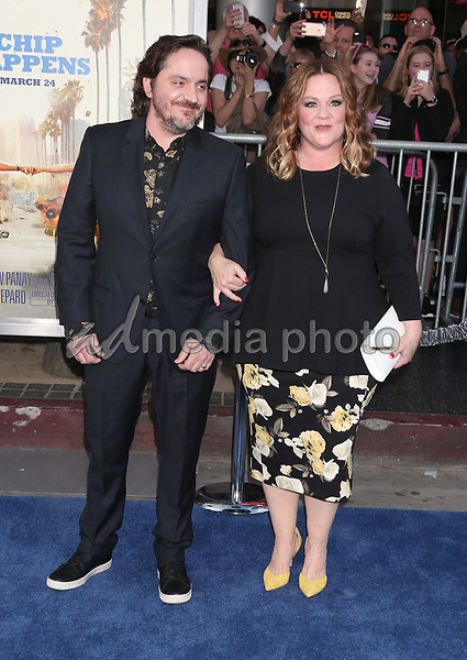 """20 March 2017 - Hollywood, California - Ben Falcone, Melissa McCarthy. """"CHiPS"""" Los Angeles Premiere held at TCL Chinese Theatre. Photo Credit: Russ Elliot/AdMedia"""