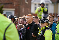 Fleetwood Town fans get  a heavy police escort into the ground<br /> <br /> Photographer Lee Parker/CameraSport<br /> <br /> The EFL Sky Bet League One - Fleetwood Town v Blackpool - Saturday 7th March 2020 - Highbury Stadium - Fleetwood<br /> <br /> World Copyright © 2020 CameraSport. All rights reserved. 43 Linden Ave. Countesthorpe. Leicester. England. LE8 5PG - Tel: +44 (0) 116 277 4147 - admin@camerasport.com - www.camerasport.com