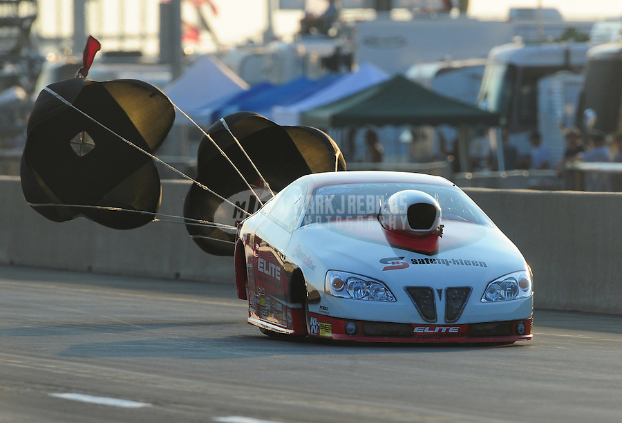 Jul, 9, 2011; Joliet, IL, USA: NHRA pro stock driver Richard Freeman during qualifying for the Route 66 Nationals at Route 66 Raceway. Mandatory Credit: Mark J. Rebilas-