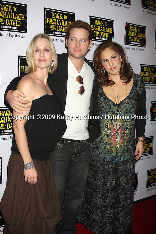 "Jennie Garth &  Peter Facinelli, with Kathy Najimy  arriving at the ""Back to Bacharach & David""  Musical Opening at the Henry Fonda Theater in Hollywood, California on April 19, 2009.©2009 Kathy Hutchins / Hutchins Photo....                ."