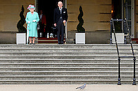 19 May 2016 - London, England - Queen Elizabeth II and Prince Philip Duke of Edinburgh during a garden party at Buckingham Palace in London. Photo Credit: ALPR/AdMedia
