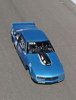 Feb. 23, 2013; Chandler, AZ, USA; NHRA super gas driver Clint Fishel during qualifying for the Arizona Nationals at Firebird International Raceway. Mandatory Credit: Mark J. Rebilas-