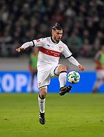 13.01.2018,  Football 1.Liga 2017/2018, 18. match day, VfB Stuttgart - Hertha BSC Berlin, in Mercedes-Benz-Arena Stuttgart. Emiliano Insua (Stuttgart) . *** Local Caption *** © pixathlon<br /> <br /> +++ NED + SUI out !!! +++<br /> Contact: +49-40-22 63 02 60 , info@pixathlon.de