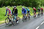 The 14 man breakaway group during Stage 2 of the Criterium du Dauphine 2019, running 180km from Mauriac to Craponne-sur-Arzon, France. 9th June 2019<br /> Picture: ASO/Alex Broadway | Cyclefile<br /> All photos usage must carry mandatory copyright credit (© Cyclefile | ASO/Alex Broadway)