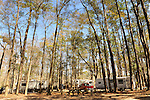 Colleton State park campground with RV's and trailers.
