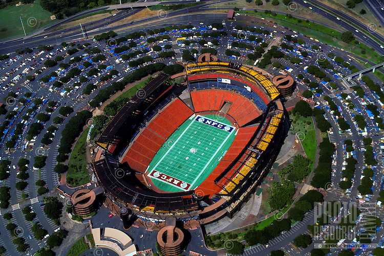 Aerial view of Aloha Stadium with football configuration