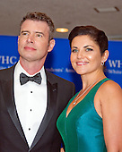 Actor Scott Foley and Marika Dominczyk arrive for the 2016 White House Correspondents Association Annual Dinner at the Washington Hilton Hotel on Saturday, April 30, 2016.<br /> Credit: Ron Sachs / CNP<br /> (RESTRICTION: NO New York or New Jersey Newspapers or newspapers within a 75 mile radius of New York City)