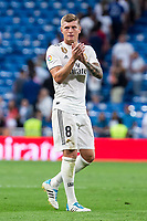 Real Madrid Toni Kroos during La Liga match between Real Madrid and Getafe CF at Santiago Bernabeu in Madrid, Spain. August 19, 2018.  *** Local Caption *** © pixathlon