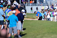 Jon Rahm (ESP) hits his approach shot on 14 inside 5 feet  during round 4 of the World Golf Championships, Dell Technologies Match Play, Austin Country Club, Austin, Texas, USA. 3/25/2017.<br /> Picture: Golffile | Ken Murray<br /> <br /> <br /> All photo usage must carry mandatory copyright credit (&copy; Golffile | Ken Murray)