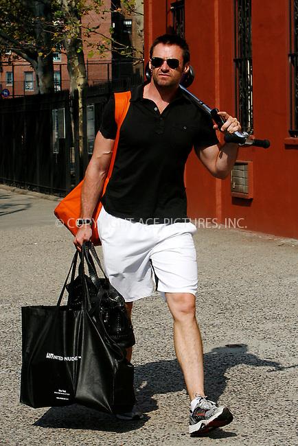 WWW.ACEPIXS.COM . . . . .  ....September 23, 2010....Actor Hugh Jackman walks through Soho on September 23, 2010 in New York City.......Please byline: NANCY RIVERA - ACEPIXS.COM.... *** ***..Ace Pictures, Inc:  ..Philip Vaughan  (646) 769 0430..e-mail: info@acepixs.com..web: http://www.acepixs.com