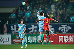 Adelaide United Forward Papa Babacar Diawara (R) fights for the ball with Jiangsu FC Defender Hong Jeongho (L) during the AFC Champions League 2017 Group H match between Jiangsu FC (CHN) vs Adelaide United (AUS) at the Nanjing Olympics Sports Center on 01 March 2017 in Nanjing, China. Photo by Marcio Rodrigo Machado / Power Sport Images