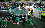 Hibernian 4, Peterhead 0, 22/08/2006. Easter Road Stadium, Scottish League Cup. Hibs manager Tony Mowbray sits in the dugout prior to his Premier League side Hibernian taking on Division Two newcomers Peterhead  in the CIS Insurance (League) Cup second round tie at Easter Road. The home team won the tie 4-0. The stadium has been completely redeveloped in the last 10 years and average attendances have climbed in that period. Hibs were formed in 1875 and traditionally drew their support from Catholics and people in the port of Leith, although the ground is in Edinburgh. Photo by Colin McPherson.