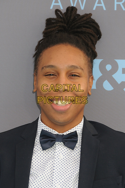 17 January 2016 - Santa Monica, California - Lena Waithe. 21st Annual Critics' Choice Awards - Arrivals held at Barker Hangar. <br /> CAP/ADM/BP<br /> &copy;BP/ADM/Capital Pictures