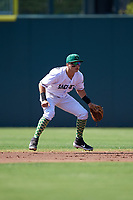 Augusta GreenJackets second baseman Nico Giarratano (6) during a South Atlantic League game against the Lexington Legends on April 30, 2019 at SRP Park in Augusta, Georgia.  Augusta defeated Lexington 5-1.  (Mike Janes/Four Seam Images)