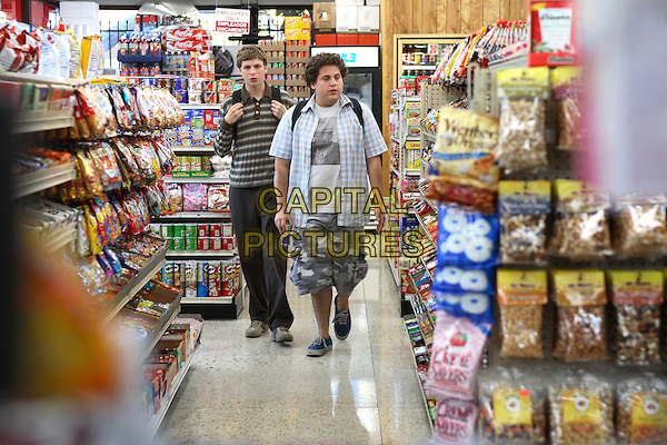 Michael Cera & Jonah Hill .in Superbad.*Filmstill - Editorial Use Only*.CAP/NFS.Supplied by Capital Pictures.