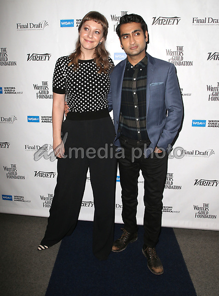 "01 February 2018 - Beverly Hills, California - Emily V. Gordon, Kumail Nanjiani. 2018 Writers Guild ""Beyond Words"". Photo Credit: F. Sadou/AdMedia"