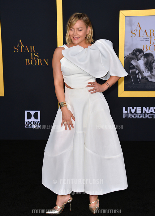 """LOS ANGELES, CA. September 24, 2018: Abbie Cornish at the Los Angeles premiere for """"A Star Is Born"""" at the Shrine Auditorium.<br /> Picture: Paul Smith/Featureflash"""