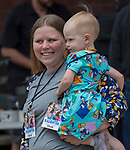 The mother-daughter look-alike contest during the Riverfest in downtown Reno, Nevada on Sunday, May 13, 2018.