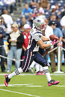 10/24/10 San Diego, CA: New England Patriots wide receiver Wes Welker #83 during an NFL game played at Qualcomm Stadium between the San Diego Chargers and the New England Patriots. The Patriots defeated the Chargers 23-20.
