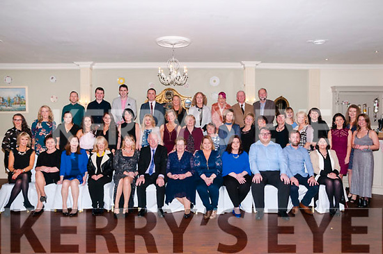 Retirement : Paddy Duggan, Listowel , sixth from left front, celebrating his retirement after 36 years from the North Kerry College, Listowel with family & colleagues at the Listowel Arms Hotel, on Saturday night last.