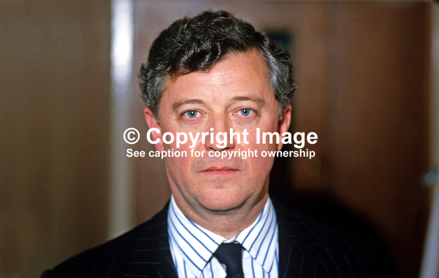 Peter Viggers, MP, Conservative Party, UK, Junior Minister, N Ireland Office, 19870914PV1.<br />
