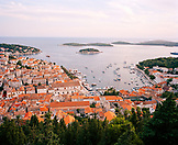 CROATIA, Hvar, Dalmatian Coast, high angle view of Hvar.