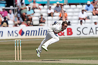 Josh Davey in bowling action for Somerset during Essex CCC vs Somerset CCC, Specsavers County Championship Division 1 Cricket at The Cloudfm County Ground on 25th June 2018