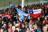 Fans at the round two Super Rugby match between the Crusaders and the Chiefs at AMI Stadium in Christchurch, New Zealand on Saturday, 24 February 2018. Photo: Martin Hunter/ lintottphoto.co.nz