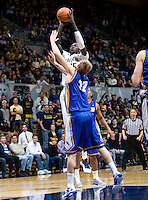 Bak Bak of California shoots the ball during the game against UCSB Gauchos at Haas Pavilion in Berkeley, California on December 19th, 2011.   California defeated UC Santa Barbara, 7-50.