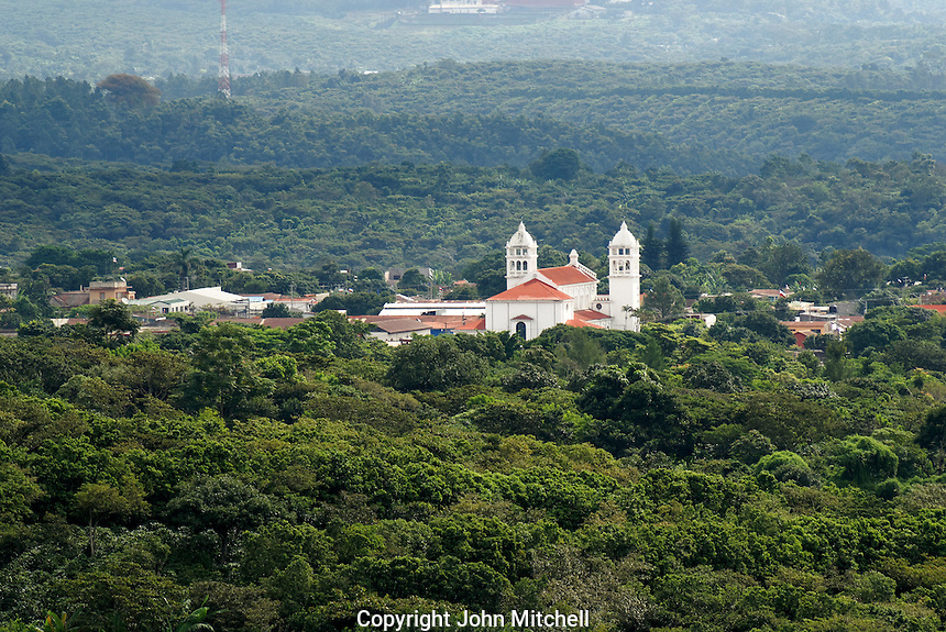 Spanish colonial town of Juayua in western el Salvador, Central America