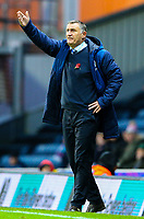 Blackburn Rovers manager Tony Mowbray shouts instructions to his team from the technical area<br /> <br /> Photographer Alex Dodd/CameraSport<br /> <br /> The EFL Sky Bet Championship - Blackburn Rovers v Queens Park Rangers - Saturday 3rd November 2018 - Ewood Park - Blackburn<br /> <br /> World Copyright &copy; 2018 CameraSport. All rights reserved. 43 Linden Ave. Countesthorpe. Leicester. England. LE8 5PG - Tel: +44 (0) 116 277 4147 - admin@camerasport.com - www.camerasport.com